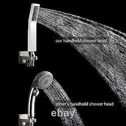 12 in Shower Set System with Rain Shower Head Chrome Shower Faucet Wall Mounted