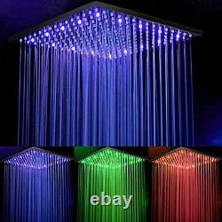 12 inch LED Rainfall Shower Faucet Set With Hand Shower Tub Filler Mixer Tap