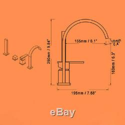4-Hole Roman Tub Faucet with Hand Shower Modern Style Chrome Brass Bathtub Tap