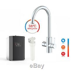 4 Way Instant Boiling Water Kitchen Tap Cold Water Filter & Digital Heating Unit