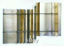 80s C. Curtis Jere Artisan House 42 chrome brass geometric wall art PICKUP ONLY