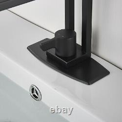 Bathroom Vessel Sink Faucet, Single Lever Deck Mount Mixer Tap with Cover Plate