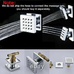 Chrome 10Shower Faucet Set Ceiling Mounted With Massage Body Jets Hand Shower