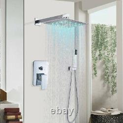 Chrome Shower Faucet Set 8 inch Rainfall Systems With Hand Shower Mixer Tap