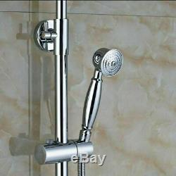 Chrome Shower Faucet Single Handle Tub Spout Hand Sprayer Mixer Tap Wall Mounted