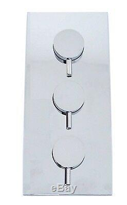 Crosswater Round 2 Way Concealed Thermostatic Valve 200 Over Head Shower Hand