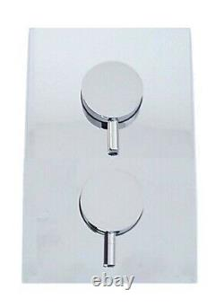 Crosswater Round 2 Way Concealed Thermostatic Valve Over Head Shower Hand Hose