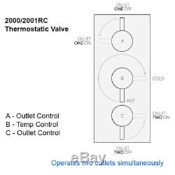 Crosswater Round 2 Way Concealed Valve Over Head Shower Hand Hose Wall Outlet