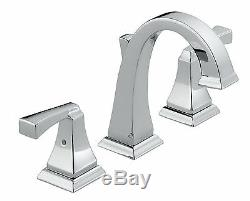 Delta 3551LF Dryden Series Two Handle Widespread Bathroom Faucet, Chrome Finish
