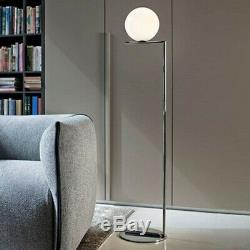 Flos IC F1 Floor Lamp Chrome and Blown Glass F317305