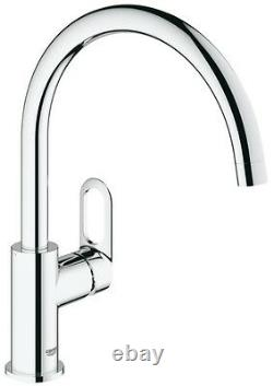 GROHE BAULOOP Kitchen Sink Mixer Tap Single Lever 31368 Swivel High Spout