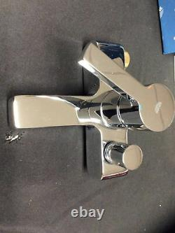 Grohe Bath/Shower Mixer Set, Single Handle In Chrome. 33850000. 6a2