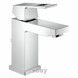 Grohe Eurocube 23127000 Mono Basin Single Lever Mixer Tap With Pop Up Waste
