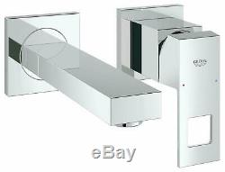 Grohe Eurocube Concealed Wall Mounted Two Hole Basin Mixer Tap Chrome Modern