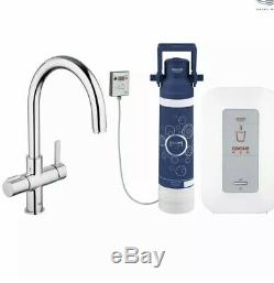 Grohe Red Duo Kitchen Sink Mixer Hot Tap C Spout Single Boiler 4 Litre 30058000