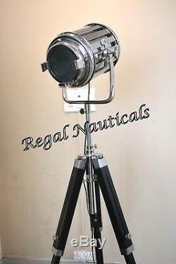 Hollywood Studio Floor Lamp Searchlight Spot Light With Tripod Stand Lamps