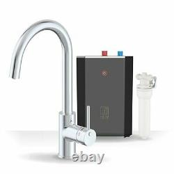 Intu 3 in 1 Instant Boiling Water Kitchen Tap Tank Filter Hot Cold Chrome Curved