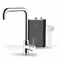 Intu 3 in 1 Instant Boiling Water Kitchen Tap Tank Filter Hot Cold Chrome Square