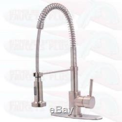 Kingston Brass Pre Rinse Pull Out Kitchen Faucet Polished Chrome GS8881DL
