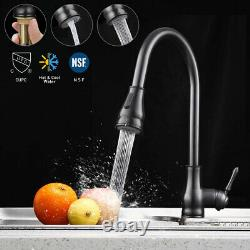Kitchen Sink Faucet Pull Down Sprayer Single Handle Mixer Tap Home Oil-Rubbed
