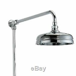 Lenor Bathroom Traditional Thermostatic Shower Mixer Dual Head & Slider Rail