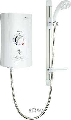Mira Advance Electric Shower Thermostatic Assistive White Chrome 9kW Power