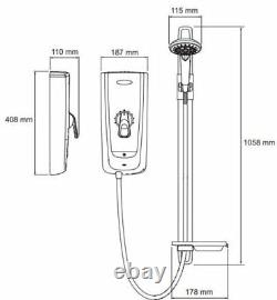 Mira Advance Flex Thermostatic Electric Shower 9.8kW White & Chrome 1.1785.004