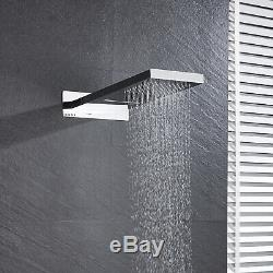 Shower Faucet 22'' Waterfall&Rainfall With Hand Shower Mixer Tap Chrome Finish