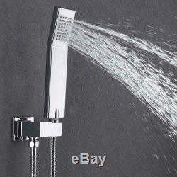 Shower Faucet Set with Tub Spout and 10 Rain Shower Head Wall Mounted Chrome