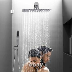 Shower Faucet System Brushed Nickel 8 inch Rainfall Shower Head Wall Mounted