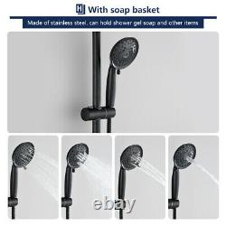 Shower Head Faucet System Combo Rainfall Oil Rubbed Bronze Bathroom HandHeld Set