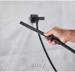 Shower System Faucet Combo Set 10 inch LED Rainfall With Hand Shower Mixer Tap