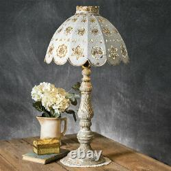 Table Lamp with Decorative Metal Shade High Detail Rustic Vintage