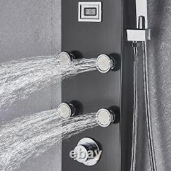 Thermostaic Stainless Steel Shower Panel Tower System, Rain Massage Jets Sprayer