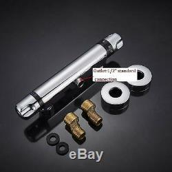 Thermostatic Chrome Finish Thermostatic Shower Faucet Control Valve Wall Mounted