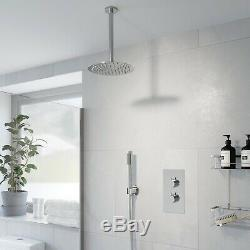 Thermostatic Concealed Round Shower Ceiling Mounted Pencil Handset Shower Head