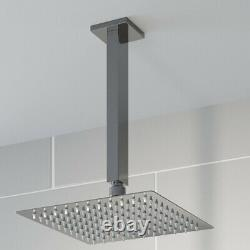Thermostatic Concealed Square Shower Body Jets Ceiling Mounted Fixed Head