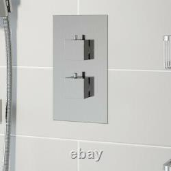 Thermostatic Concealed Square Shower Wall Mounted And Adjustable Shower Heads