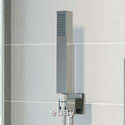 Thermostatic Concealed Square Shower Wall Mounted Handset Shower Head Chrome