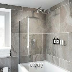 Thermostatic Concealed Valve Round Shower Wall Mounted Bath Filler Drench Head