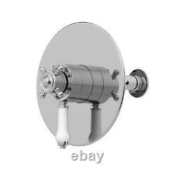 Thermostatic Concentric Concealed Shower Wall Mounted Fixed Shower Head Chrome