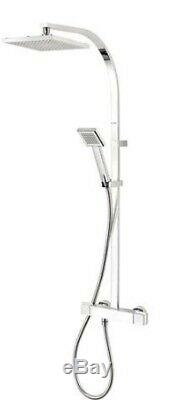 Triton Excellente Rear Fed Chrome Effect Thermostatic Bar Mixer Shower, 6286