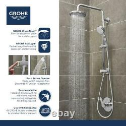 Vitalio 5-spray 7 in. Dual Shower Head and Handheld Shower Head in Chrome by GRO