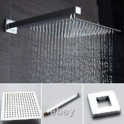 Wall Mounted 10 inch Rain Shower Head Shower Combo Set System Hand Shower Tap
