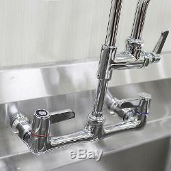 YooGyy Commercial Sink Kitchen Faucet Pull Down Pre-rinse Sprayer 8'' Center